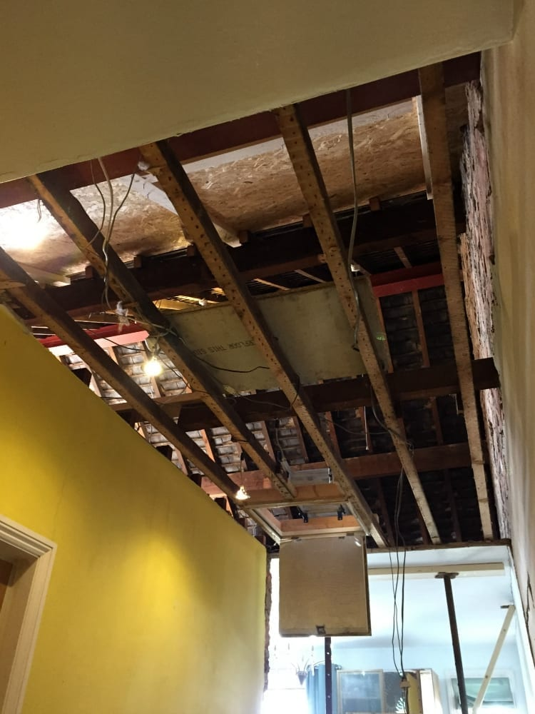 Exposed ceiling