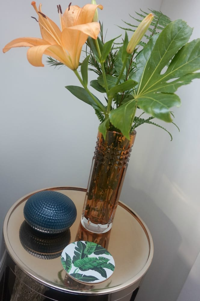 Bedside waterford vase
