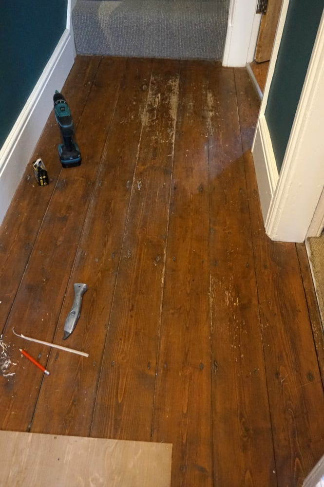 Original wood flooring hallway