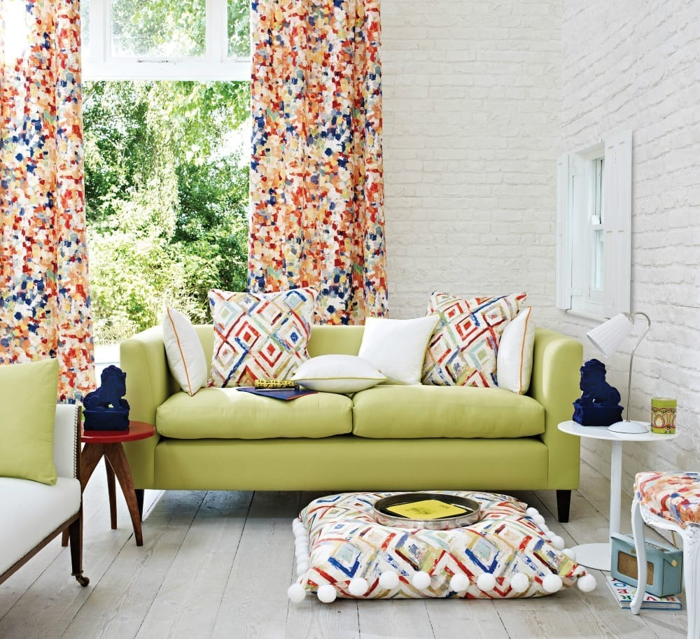 Clover and Thorne curtains PRINTWORKS bright