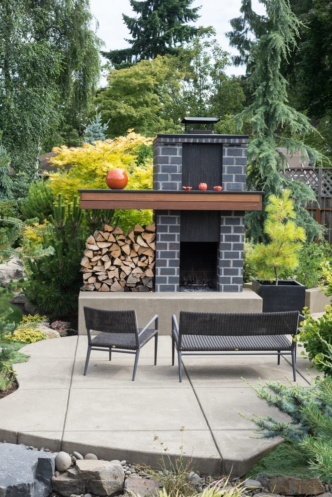 Modern garden seating