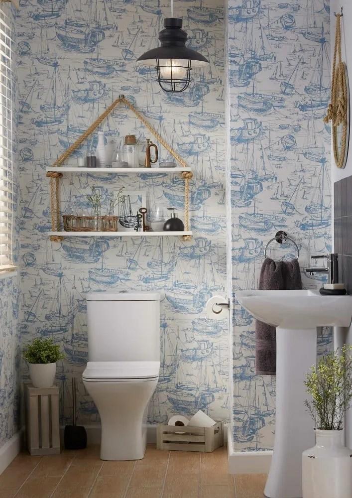 Beautiful blue bathroom