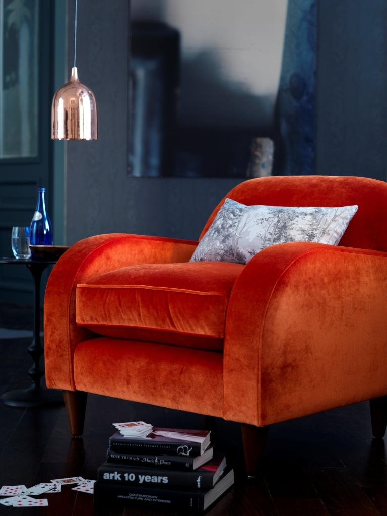 Using velvet in a stunning statement chair is the perfect way to introduce this winter 16/17 trend into your home. There are many types of velvet, so well worth checking out the right one for your home, and how to introduce it. Cushions, curtains, stools, headboards and blankets all work well.