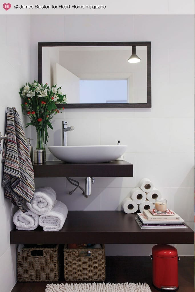 How to make the most of your small bathroom with ideas for storage, decorating tips, how to add plants and make your small space as luxurious as possible. Just because you have a small bathroom doesn't mean it can't be stylish, practical and functional for you and your family.