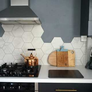 Hexagonal Wall Tiles from British Ceramic Tile: Kitchen Update