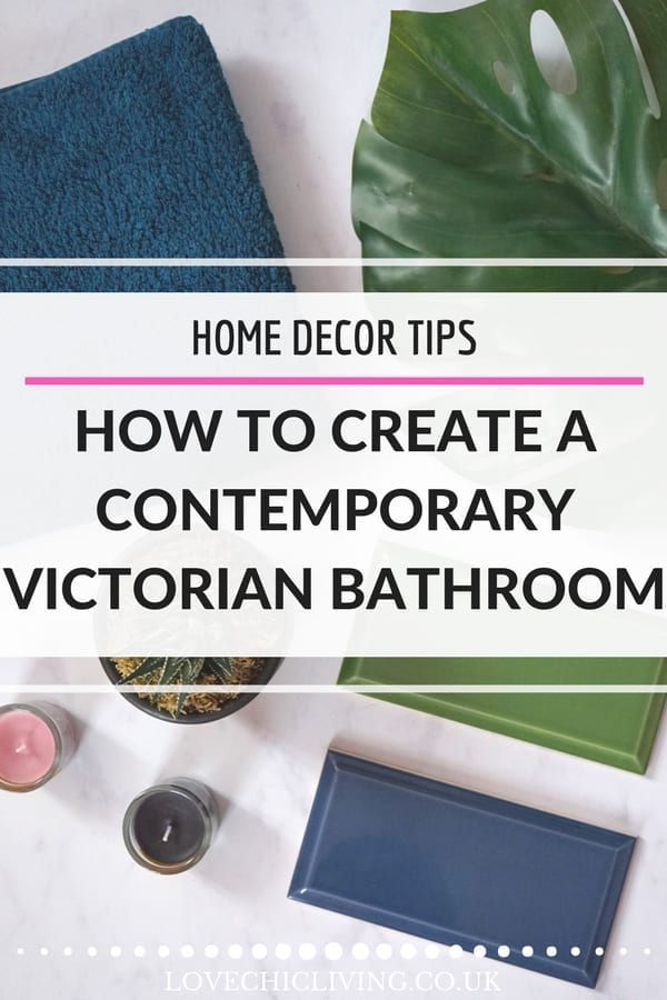 If you love the victorian era and want to create something like this in your own home decor, how about a contemporary victorian bathroom? It's an easy design to recreate and with moodboards I've managed to design a space that looks like a Victorian period bathroom but is still modern, fresh and up to date #lovechicliving #victorianbathroom #contemporaryvictorian