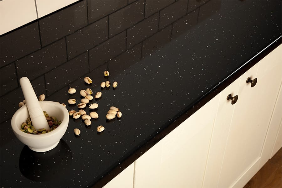Black laminate worktop