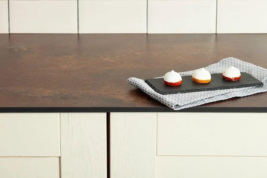 Solid laminate kitchen worktop