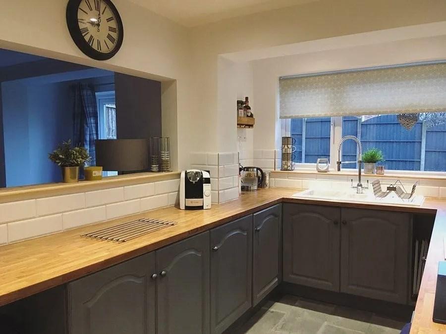 Laminate oak kitchen worktop