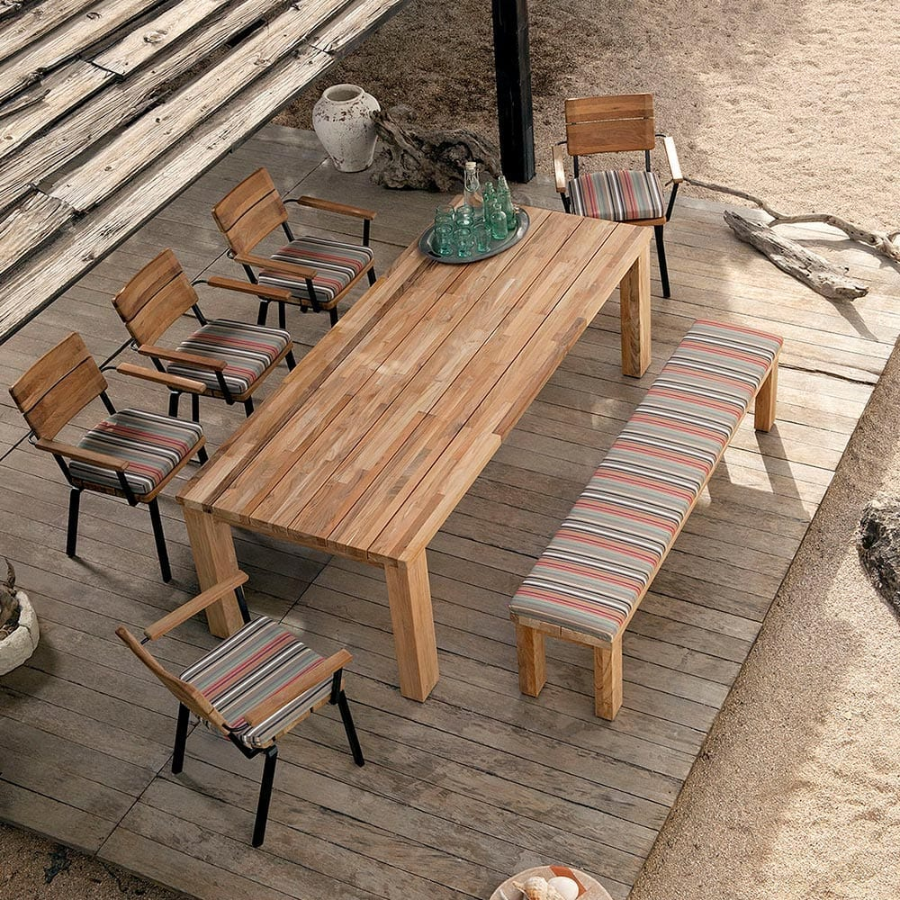 Teak teak is a type of hardwood most suited to garden furniture due to its density and high oil content which keeps it naturally lubricated wood is a