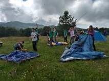 16 Построяване на бивак от палатки