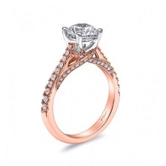 Coast Diamond rose and white gold engagement ring lc5447rg pave set diamond ribbons