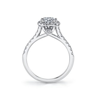 coast diamond cushion shaped halo engagement ring lc5256 with side stone side view