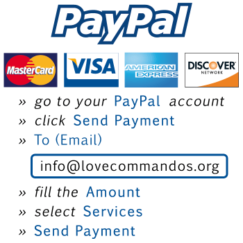Love Commandos - Paypal-Send-Payment