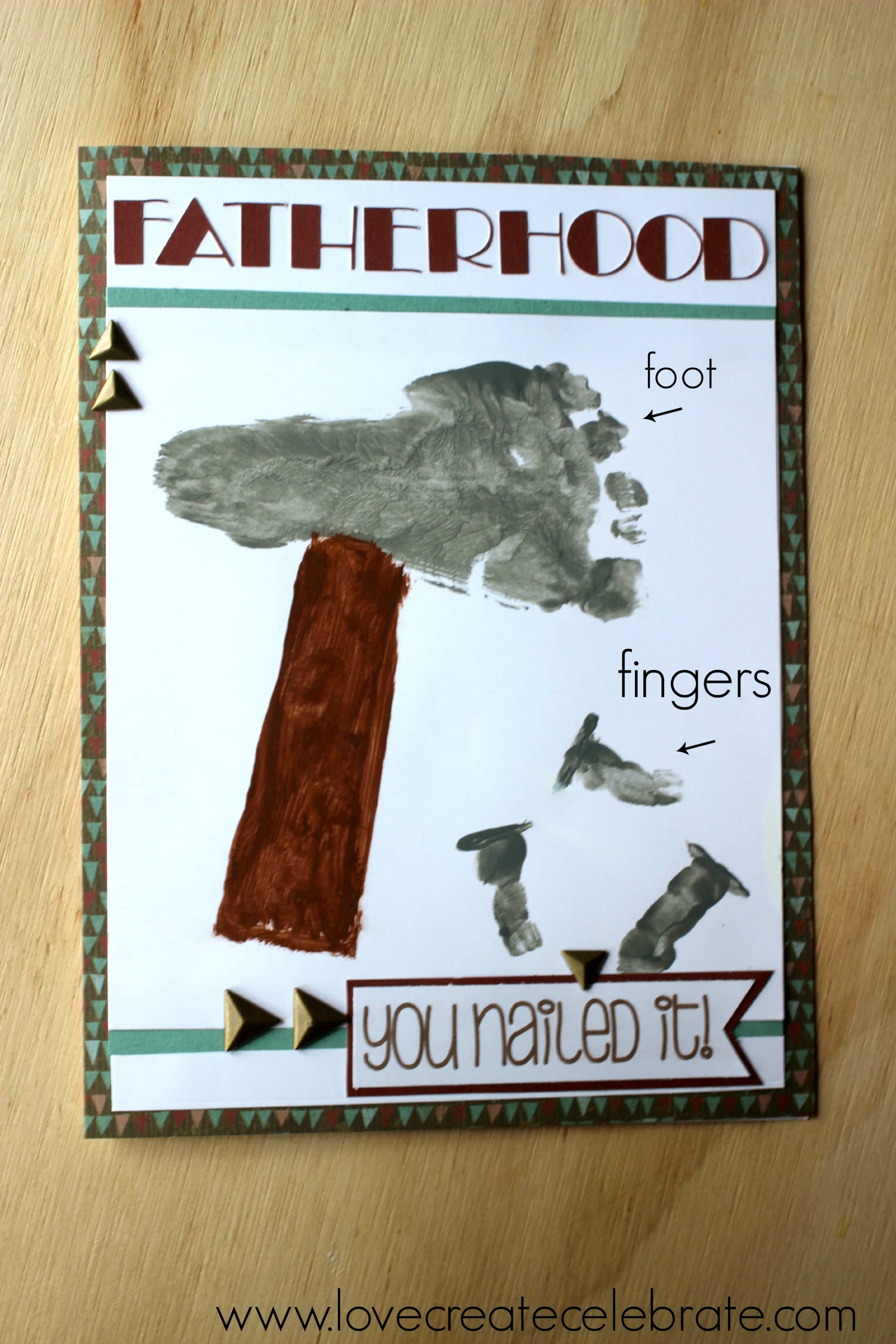 Father S Day Footprint Card Craft