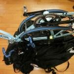 自転車の輪行を少し楽にするホイールバッグ