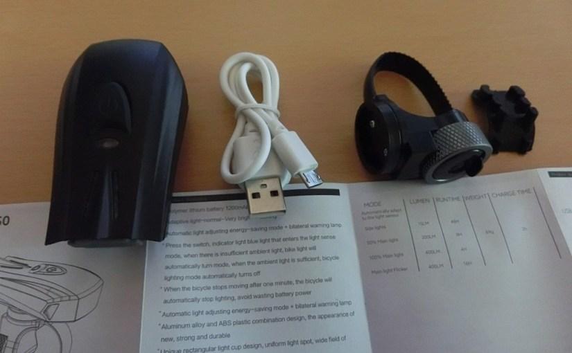 USB充電の自転車ライト 調光式のオートライトで便利すぎる