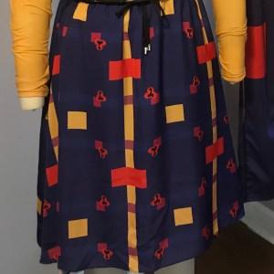 NEOXNOIR Print Midi Skirt