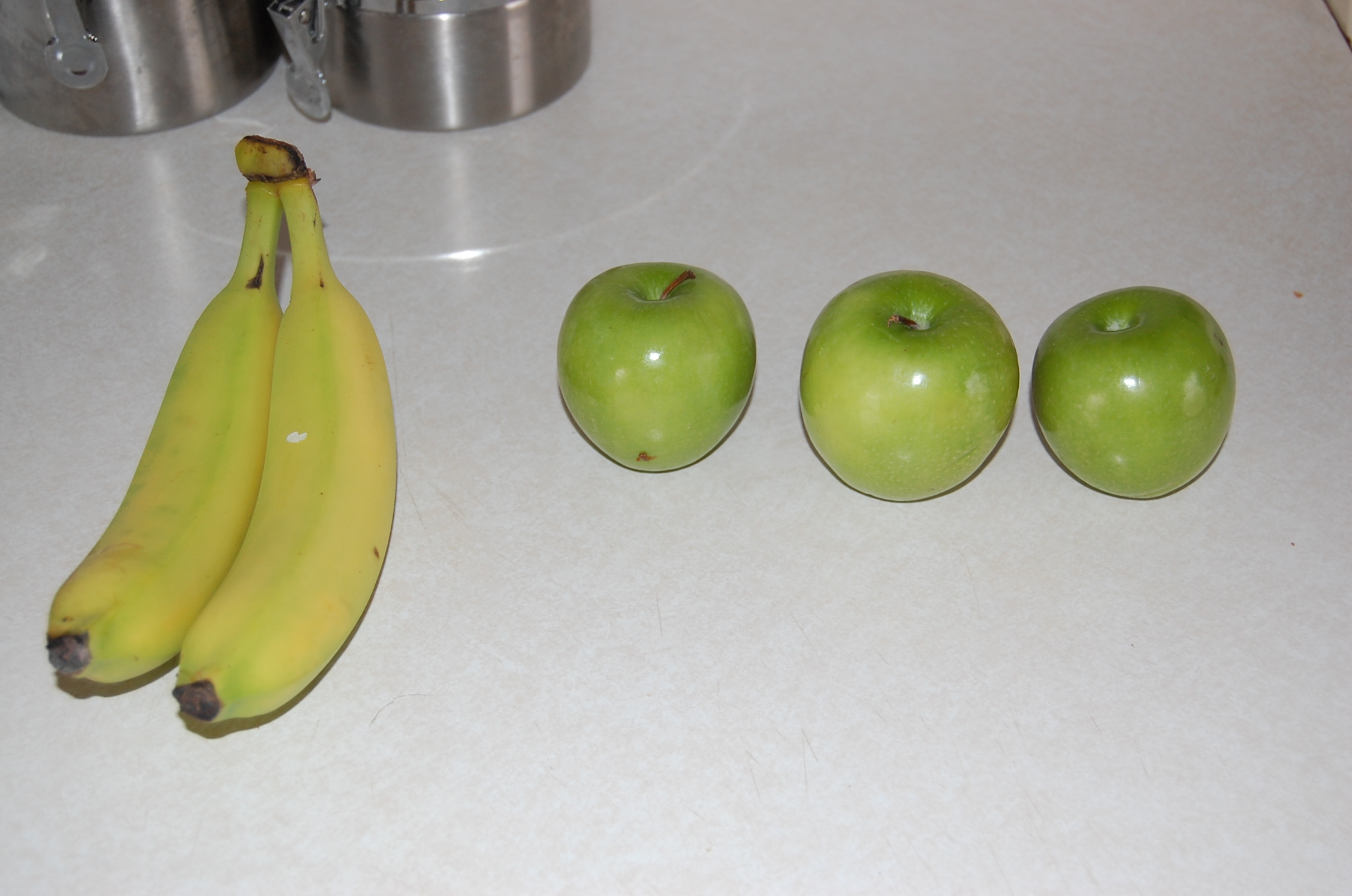 Apples and bananas