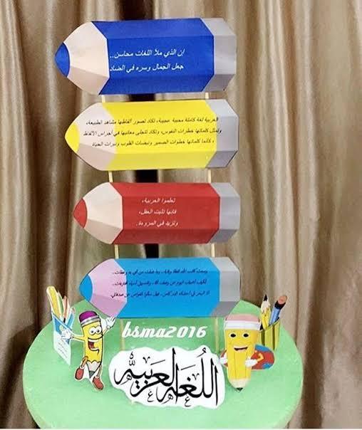 مجسمات مدرسية عن اللغة العربية