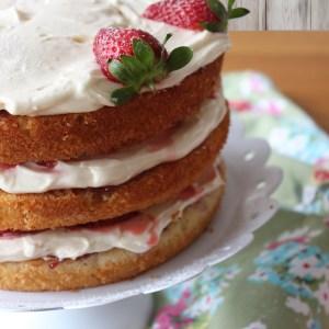 3 layer victoria cake