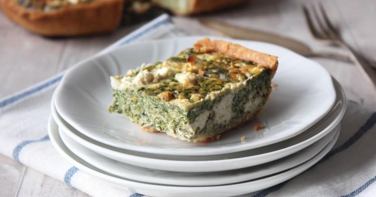 Spinach, Feta and Mascarpone Quiche