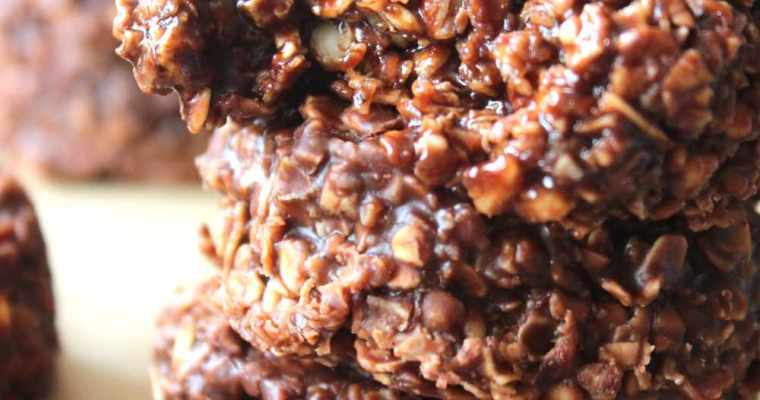 No bake oat snicker cookies