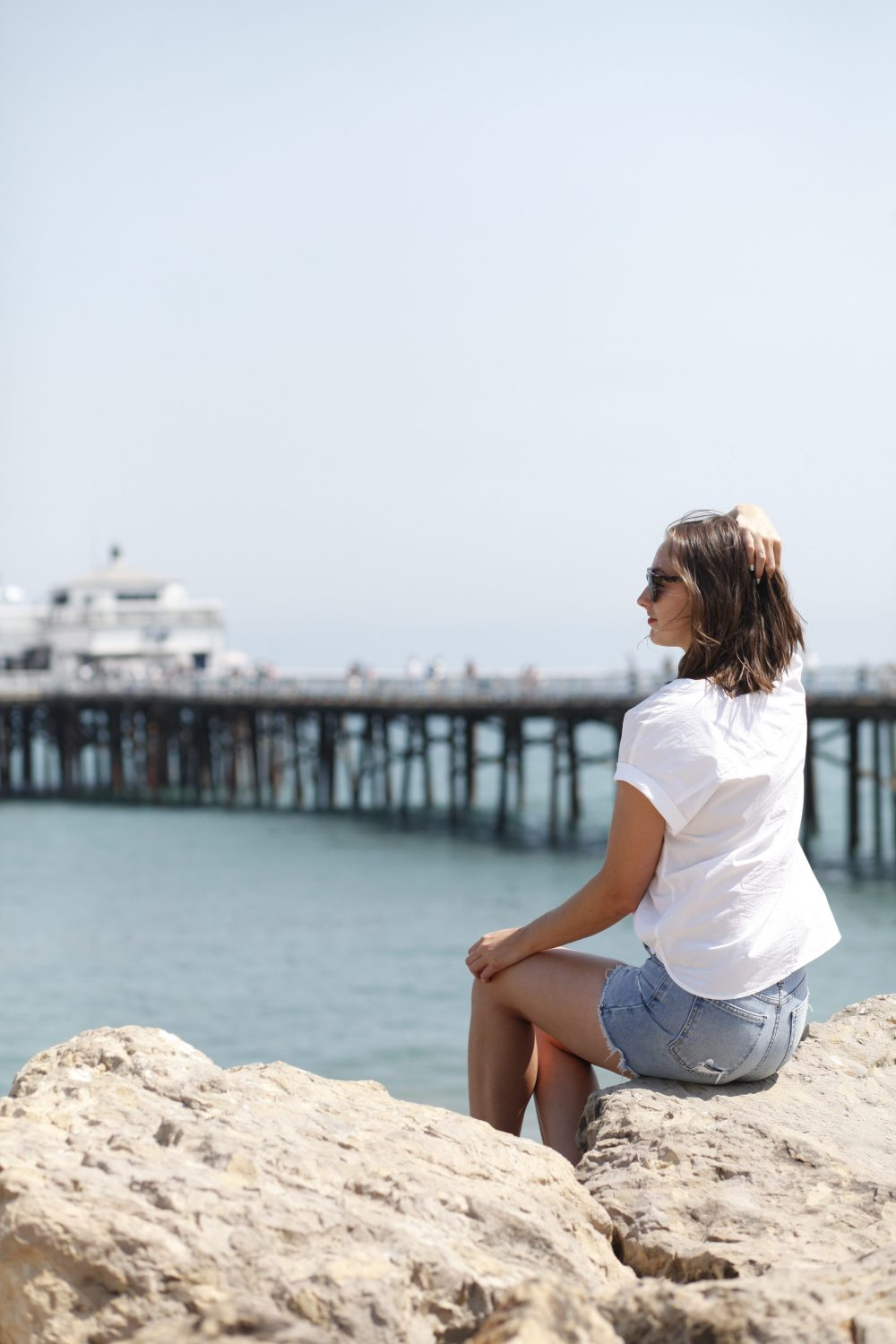 bucket list malibu pier beach ootd