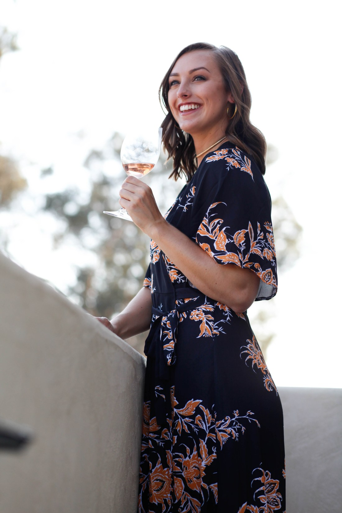 Topa Mountain Winery rosé SheIn affordable wrap dress