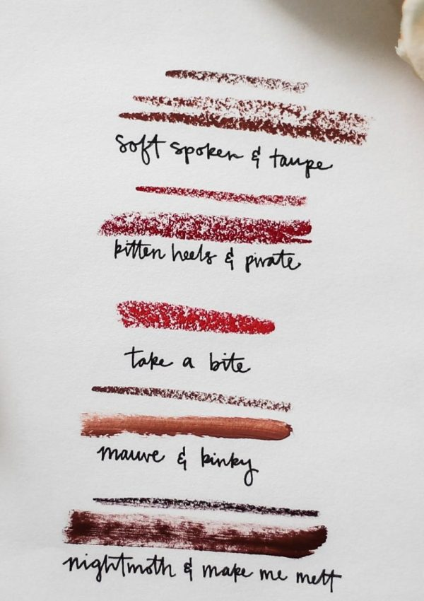 my five favorite lipsticks.