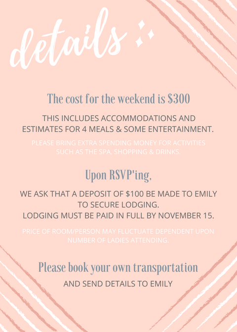 bachelorette weekend party invitation san antonio details