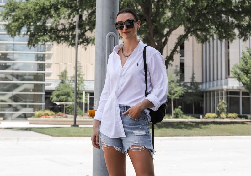 HOW TO STYLE AN OVERSIZED BUTTON DOWN