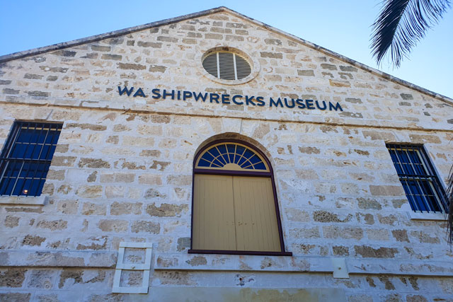 The outside of the Shipwrecks Museum