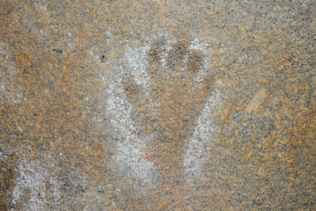 One of the hand prints at Mulgas Cave