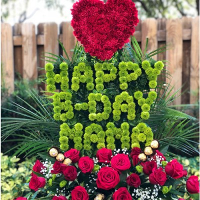 """Happy B-day Mama"" Flower Arrangement"