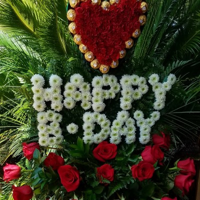 Happy Bday With A Bonbon Heart