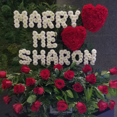 MARRY ME Personalized Flower Design