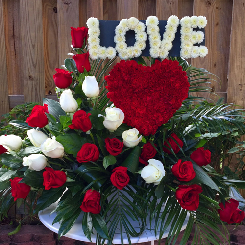 LOVE Flower Arrangment Love Flowers