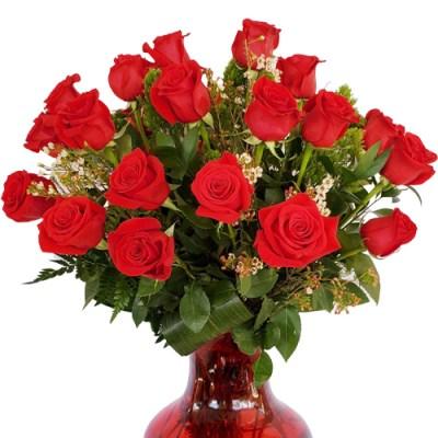 Fabulous 24 Roses Vase
