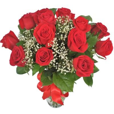 Fabulous 12 Roses Vase