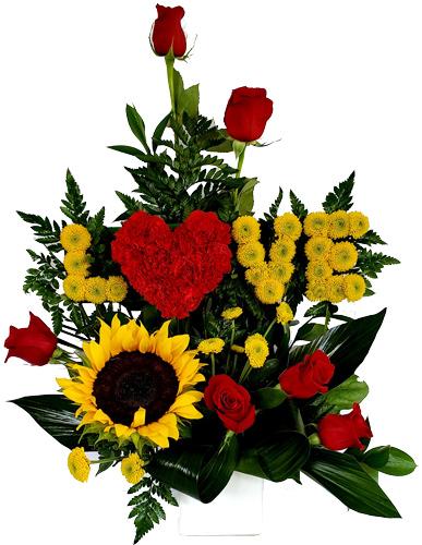 LOVE-flowers-con-girasoles-y-rosas