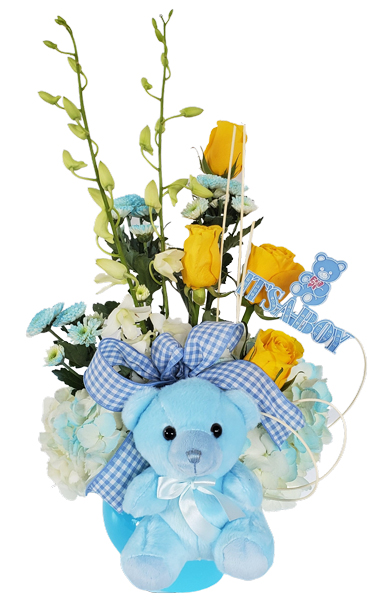 Teddy Bear Baby Flowers