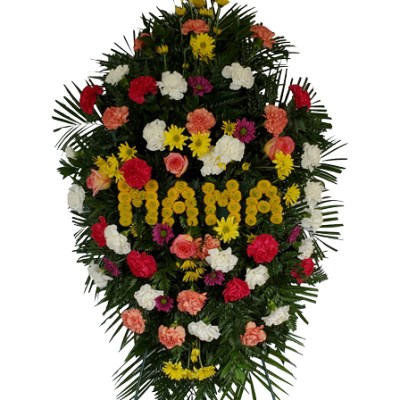 6 Ft. Tall MAMA Spring Funeral Spray