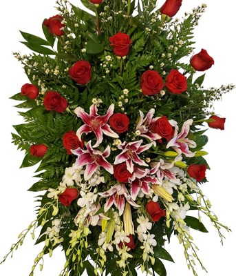 6 Ft. Tall Forever Love Funeral Spray