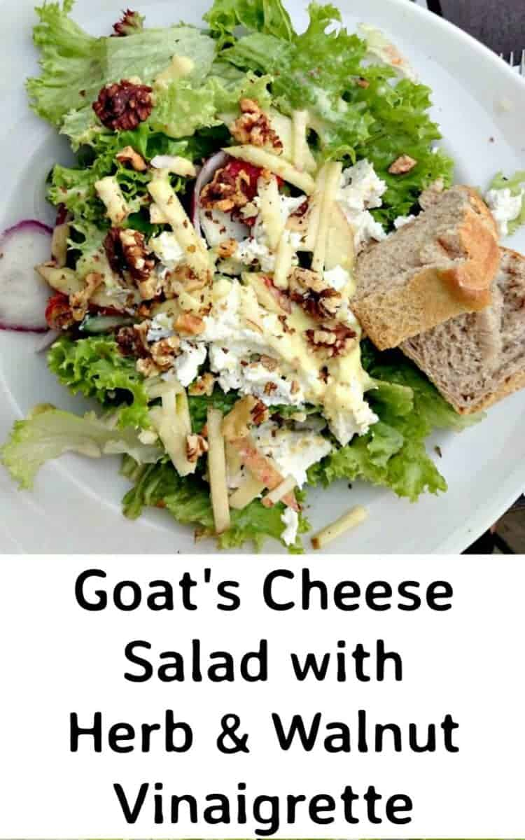 Goat's Cheese Salad with Herb and Walnut Vinaigrette- 17 Healthy Salads That Don't Taste Like Rabbit Food. serenabakessimplyfromscratch.com