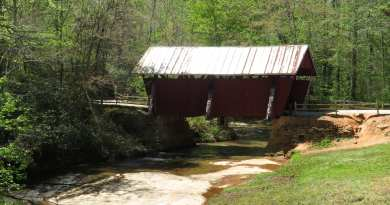 "Walk With Me, Steve Martin – ""Historic covered bridge in upper state South Carolina"""