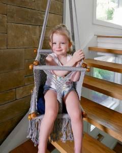 Macrame Toddler Swing | Gray