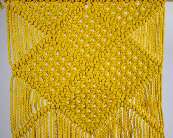 Granada Macrame Wall Hang Yellow Made in Nicaragua