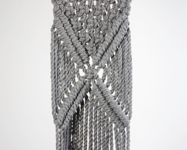 Mombacho Macrame Plant Holder Gray Made in Nicaragua