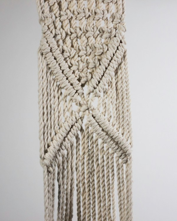 Mombacho Macrame Plant Holder Natural White Made in Nicaragua